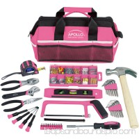 Apollo Tools 201-Piece Household Tool Kit in Tool Bag, Pink 553672279