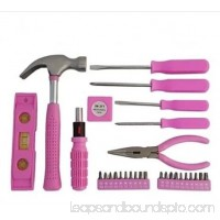 Pink Ladies Women Females 30-Piece Girls Tool Set Box with Premium Carrying Case - Never Lose your Tools Again!
