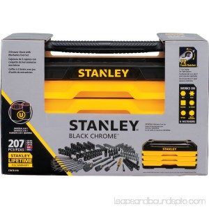 STANLEY 207-Piece Black Chrome Mechanics Tool Set | STMT81190 570270346