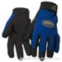 Black Stallion ToolHandz 99PLUS-BLUE Syn. Leather/Spandex Mechanic's Gloves, Large