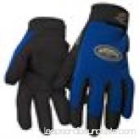 Black Stallion ToolHandz 99PLUS-BLUE Syn. Leather/Spandex Mechanic's Gloves, Large