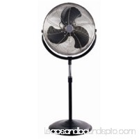 18 in. Stand Fan Industrial Chrome Grill - Black -
