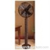 "55"" Rustic Style Fir Bark Oscillating Standing Floor Fan"
