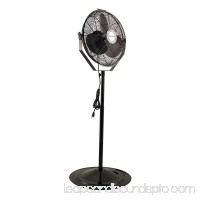 "Air King 18"" 1/6 HP 3-Speed Non-Oscillating Adjustable Pivoting Pedestal Fan"