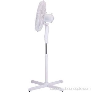 Brentwood Kool Zone F-165MW 16 Oscillating Stand Fan 563406403