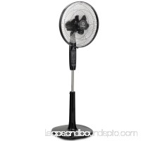 Costway Fantask 16'' Oscillating Pedestal Fan 2 Mode Adjustable Remote Control 2 Blades