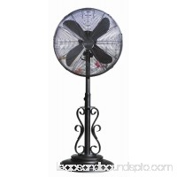 DecoBREEZE Adjustable Height Oscillating Outdoor Pedestal Fan, 18-Inch, Providence   566235224