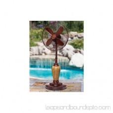 DecoBREEZE Adjustable Height Oscillating Outdoor Pedestal Fan, 18-Inch, Terra 566237135