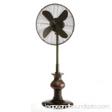 DecoBreeze DBF7308 Austin 18 Inch Blade Span 51 Inch Tall 3 Speed Outdoor Pedestal Fan
