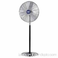 "Deluxe Oscillating Pedestal Fan, 30"" Diameter, 1/2HP, 10,000CFM, Lot of 1"