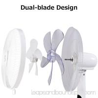 Fantask 16'' Oscillating Pedestal Fan 2 Mode Adjustable 2 Blades Remote Control
