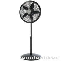 Lasko 1827 18-Inch Adjustable Elegance and Performance Pedestal Fan, Black