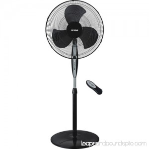 Optimus 18 Black Oscillating Stand Fan with Remote Control 552451327