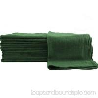 GHP 50-Pcs 100% Cotton Pre-Shrunk 13x13 Green Industrial Mechanics Shop Rag Towels
