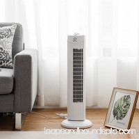 Fantask 35W 28'' Oscillating Tower Fan 3 Wind Speed Quiet Bladeless Cooling Room
