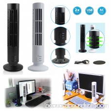 Portable USB Vertical Bladeless Fan, Mini Air Condition Fan Desk Cooling Tower Fan for Home/Office