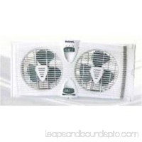 Twin Window Fan with Thermostat and 7 Inch Fan Blades