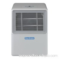 Norpole 30 Pint Portable Dehumidifier, White   566854246